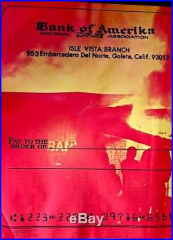 Burning Bank Of America Isle Vista Ca -anti Viet War Poster 1970 Original Scarce