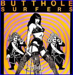 Butthole Surfers Signed Early Kozik 1989 Original Punk Poster Rare