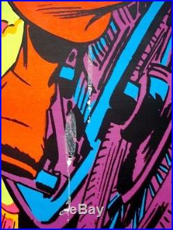 CAPTAIN AMERICA AND FALCON MARVEL THIRD EYE Black light poster TE4015 ROMITA