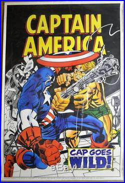 CAPTAIN AMERICA CAP GOES WILD POSTER MARVELMANIA 1970 Kirby Art Mail Order ONLY