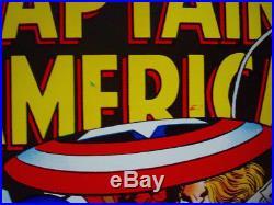 CAPTAIN AMERICA MARVELMANIA 1970 Vintage Marvel Comics poster 23x35 KIRBY LINEN