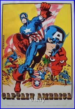 CAPTAIN AMERICA MARVELMANIA 1970 Vintage Marvel comics poster 23x35 JIM STERANKO