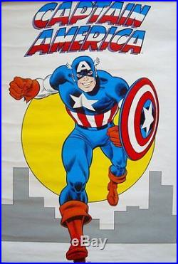 CAPTAIN AMERICA MARVELMANIA 1974 Vintage Marvel comics poster 22x30 JOHN ROMITA