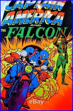 CAPTAIN AMERICA & The FALCON THIRD EYE BLACKLIGHT POSTER 1971 Rare Marvelmania