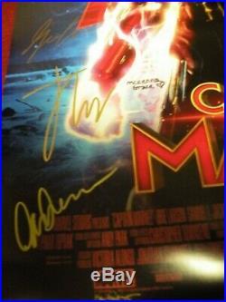 CAPTAIN MARVEL Cast Signed DS Movie Poster Marvel Comic AVENGERS Ms. 1 End Game 4