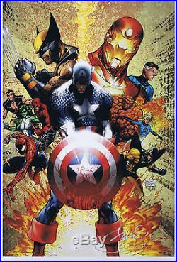 CIVIL WAR #1 by Michael Turner ART PRINT 13 x 19 Aspen Marvel HTF RARE