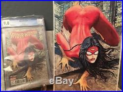 COMBO Spider-woman #1 (Milo Manara) CGC 9.8 Comic + Poster + Pin