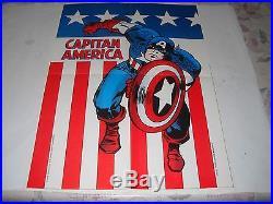 Capitan America N. 27 Poster Manifesto E Adesivi Editoriale Corno 1974 Gadget