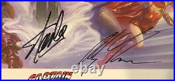Captain America Alex Ross Print Signed by Stan Lee with COA & Alex Ross ONLY 200