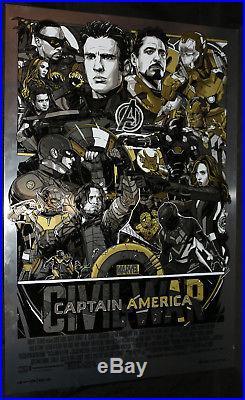Captain America Civil War Vibranium Metal Variant Mondo Sample Poster 2017