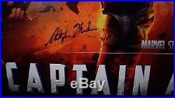 Captain America Original Movie Poster Signed 7x Chris Evans Hayley Atwell