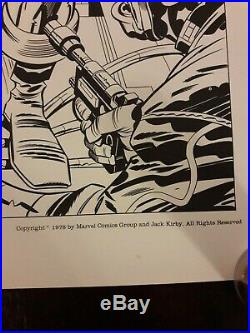 Captain America Partners in Action Art Print 796/1500 Signed Jack Kirby Avengers