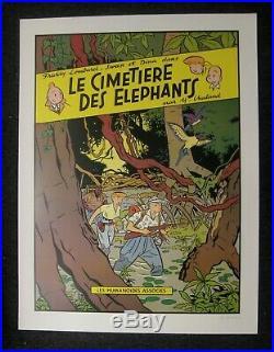 Chaland Affiche signée Le cimetière des éléphants Ed. Art Moderne TTBE