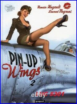 Coffret De 4 Albums Pin-up Wings Collection Cockpit Par Romain Hugault