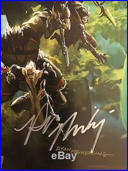 Comic Con 2017 Signed Full Set Avengers Infinity War Ryan Meinerding Posters