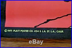 Conan The Barbarians Blacklight Poster 34 X21.5 Platt Poster Company 1971 NM