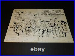 Cover Wraparound Mounted Production Stat DC Super Hero Poster Book 1978