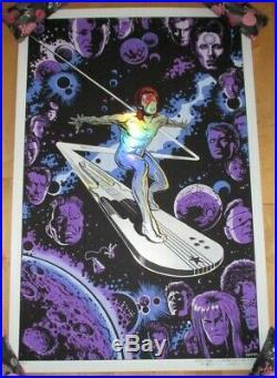DAVID BOWIE Silver Starman surfer art Poster Print Emek & Gan