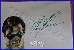DC COMICS 2001 GREEN LANTERN DOOR OVERSIZED SIGNED ALEX ROSS POSTER 58 x 22 RARE