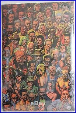 DC VERTIGO COMICS PREACHER DOUBLE SIGNED FABRY ENNIS POSTER 22 x 34 RARE OOP