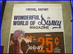 DISNEY Sword in the Stone DRAGON 1968 Gulf Gas 6' store sign poster comic book B