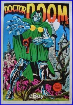 DOCTOR DOOM MARVELMANIA 1970 Vintage Marvel comics poster 23x35 JACK KIRBY NM