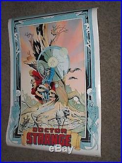 DOCTOR STRANGE Vintage Poster SIGNED by STAN LEE Marvel/Movie/Defenders