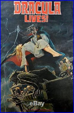 DRACULA LIVES Marvel Monster POSTER 1974 Rare Marvelmania