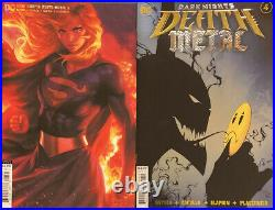 Dark Knights Death Metal #1-7 All Tie Ins Poster 20 DC Comic Book Foil Covers