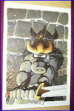 Dave Sim's Cerebus poster 24 x 35 1989 comic legends legal defense fund