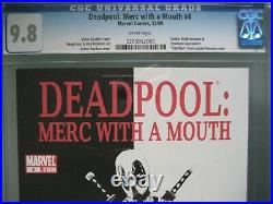 Deadpool Merc with a Mouth #4 CGC 9.8 WP 2009 Scarface Movie Poster Homage Cover