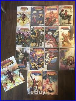Deadpool Vs Thanos 1 2 3 4 Run Set + Every Variant NM 1st Print RARE + Poster