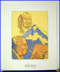 Derib serigraphie Indien a mon pere 300 ex signe