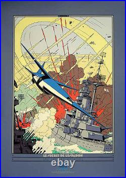 E. P JACOBS Sérigraphie Espadon / SX-1 contre-attaque Archives Int NEUF