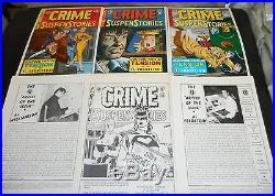 EC CRIME SUSPENSE STORIES Cover Portfolio JOHNNY CRAIG J Kamen FELDSTEIN G Evans