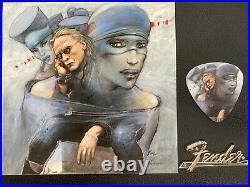 Enki Bilal / Lucie Bevilacqua. Guitare fender 25ex. Numérotée signée