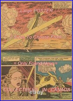FIRST WOMAN TEST PILOT 1943 Alma Heflin = 6 POSTERS Comic Book 7 SIZES 19 3FT