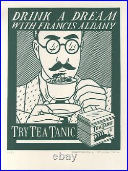 FLOC'H Sérigraphie ALBANY TRY TEA TANIC (TEMPS FUTURS 1983) 200 ex n° /signés