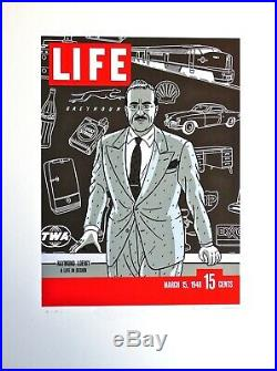 FLOC'H Sérigraphie LOEWY A LIFE IN DESIGN (Central Union 1985) Ex. EA /signé
