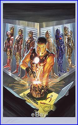FRAMED Alex Ross SIGNED Sideshow Exclusive Avengers Fine Art Print IRON MAN