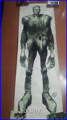 FRANKENSTEIN MONSTERS OF FILMLAND 1974 Vintage poster 24x71 JACK DAVIS RARE