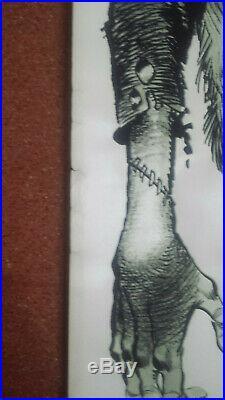 FRANKENSTEIN MONSTERS OF FILMLAND 1974 Vintage poster 24x71 JACK DAVIS RARE GOOD
