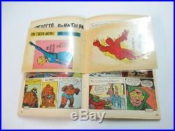Fantastici Quattro # 1 Con Poster E Adesivi Editoriale Corno Gadget 1970 Rarita