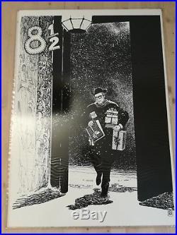 Fellini Set 5 Original Litho 20x27 Movie Poster Art By Milo Manara Dolce Vita
