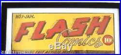 Flash Comic No. 1 Cover Print Hand Signed Sheldon Moldoff, Ltd Ed Artist Proof