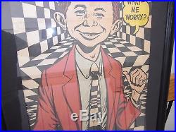 Framed Poster Alfred E. Neuman Newman 1965 Eighth Annual More Trash Mad