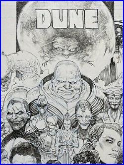 Frank Herbert Dune Poster Original Comic Art Sci Fi Paul Harmon 11x17