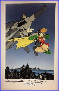 Frank Miller Klaus Janson SIGNED Batman Dark Knight Returns Fine Art Print 10/25
