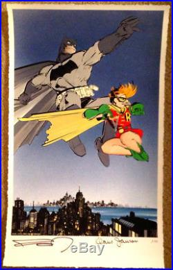 Frank Miller Klaus Janson SIGNED Batman Dark Knight Returns Fine Art Print #3/25