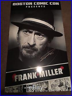 Frank Miller Signed Convention Backdrop Boston Comic Con 2016